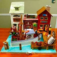 create a seaside themed gingerbread house gingerbread