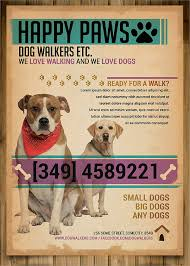 how to make dog walking flyers Juve cenitdelacabrera