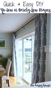 Easy Sew Curtains Quick U0026 Easy Diy Barely Sew Or No Sew Drapery Panels The Happy