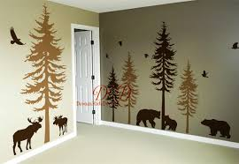 woodland nursery decal pine tree decal vinyl wall decal wall woodland nursery decal pine tree decal vinyl wall decal wall sticker nature forest