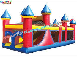 outdoor large durable inflatables obstacle course tunnels for