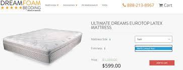 Comfort Dreams Mattress Dreamfoam Ultimate Dreams Eurotop Latex Mattress Review