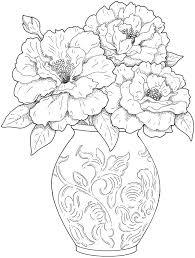 Draw A Flower Vase 58 Best Draw Flowers Images On Pinterest Coloring