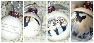personalised baubles in different designs tree