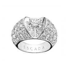 diamond heart ring escada pavé diamond heart ring