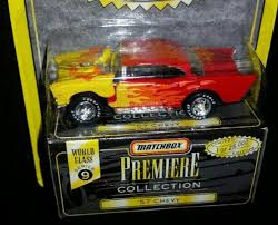 matchbox chevy impala matchbox premiere collection flamed u002757 chevy series 9 die cast