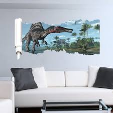 jurrasic park 3d wall stickers decals boys room home decor world park dinosaurs wall stickers