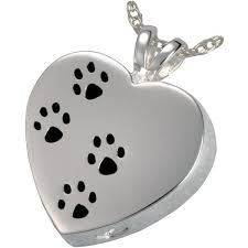 pet ashes jewelry paw prints on my heart pet ashes pendant thanicare