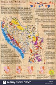 Map Of Balkans Illustrated Map Of Western Balkan Wine Regions Croatia Serbia