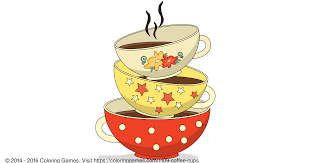 coffee cups coloring games and coloring pages
