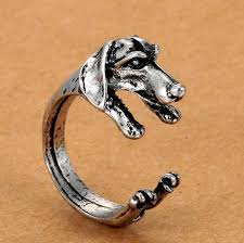 antique dog ring holder images Cute handmade pug dog rings for women summer jewelry anillos mujer jpg