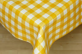 table gingham table cloth suitable yellow and white gingham