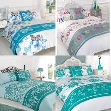 Bed In A Bag Duvet Cover Sets by Floral Duck Egg Blue Grey Bed In A Bag Duvet Cover Bedding Set Ebay