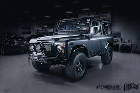 custom land rover defender land rover defender 90 restoration and rebuild wrap phenomenalvinyl