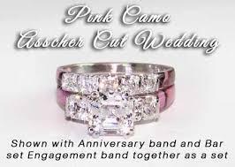 camo wedding sets camo anniversary ring asscher wedding set pink camo wedding
