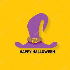 halloween purple and orange background vector tall witch hat on orange background u2014 stock vector zm1ter