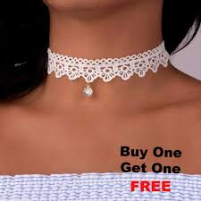 choker necklace tattoo images White lace tattoo choker necklace with pendant jpg