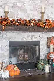 bountiful autumn mantel domestically speaking