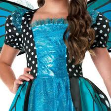 Blue Butterfly Halloween Costume Totally Ghoul Girls Blue Sparkle Butterfly Halloween Costume
