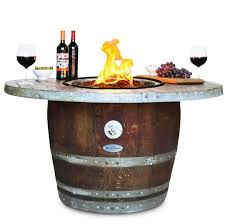 Wine Barrel Fire Pit Table by Wine Barrel Furniture Wine Country Accents Home Decor
