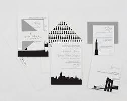 wedding invitations nyc modern wedding invitation new york wedding
