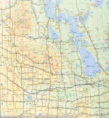 Us Canada Map Linking Us And Canadian Border Waters Road Map Of Manitoba Canada