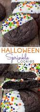 these easy halloween sprinkle cookies are the perfect addition to