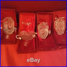 set 12 waterford 12 days of ornaments 1982