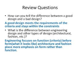 design criteria questions concepts of engineering module 2 test review review questions