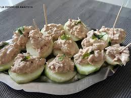 recette canapé apéritif facile recette de canapés de concombre