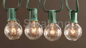 g40 globe light string set 25 lights green cord various
