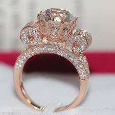 Wedding Rings Rose Gold by 3ct Genuine Charles U0026 Colvard Certified Moissanite Diamond Women