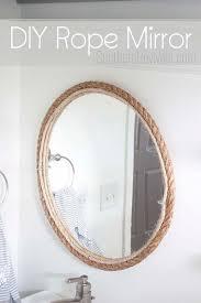 nautical mirror bathroom diy rope mirror tutorial nautical style bathroom mirror