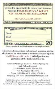 e gift cards restaurants insurance uses restaurant gift cards to pull leads