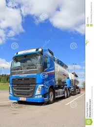 volvo truck trailer volvo fh 450 bulk transport truck and trailer editorial image
