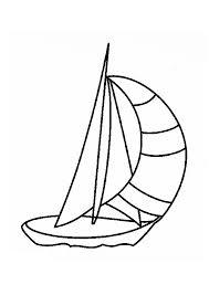 image d u0027un petit voilier à colorier coloriages de bateaux