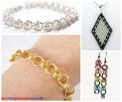 chain link bracelet patterns images 46 free chain maille jewelry patterns png