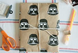 wars wrapping paper wars gift wrapping diy starwars diy gifts to make