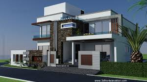 Row House Front Elevation - 3d front elevation com portfolio