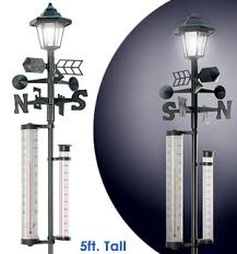 solar powered lamp post u003cbr u003ewith weather station pulsetv