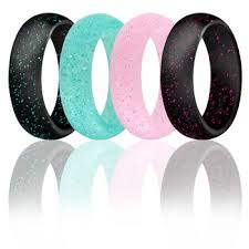 jewelry rubber rings images Fashion jewelry couple rubber rings wedding glitter engraved jpg