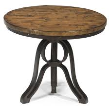 Height Of End Table by Magnussen Home Cranfill Industrial Style Round End Table With