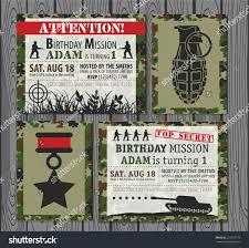 camo army birthday invitation stock vector 272157773 shutterstock
