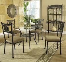 steve silver carolyn 5 piece casual round dining table u0026 side