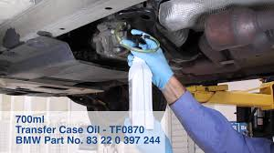 bmw x3 e83 2004 2010 transfer case oil change diy repair youtube