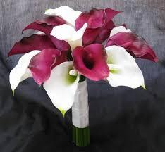 calla colors touch bouquet purple white calla