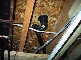 Install Basement Ceiling Elegant Shower P Trap Have Drain Exposed Basement Ceiling Leak