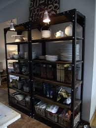 Kitchen Metal Shelves by Styling Open Shelving In The Kitchen Metal Shelves Open
