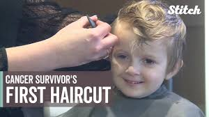 caption for big haircut for a child who battled cancer this first hair cut is a big deal