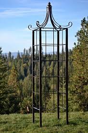 h potter trellis wrought iron ornamental large garden obelisk for